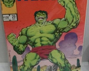 1986 Marvel Fanfare #29  November Incredible Hulk Cover John Bryne Issue  - VG+ Unread Vintage  Marvel Comic Book