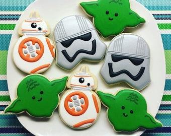 One Dozen Star Wars Sugar Cookies