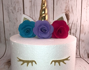 Unicorn Cake Topper, Birthday Cake, Unicorn Birthday Party, Unicorn Cake