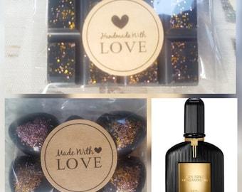 Black Opium soy wax melts snap bar or 6 hearts