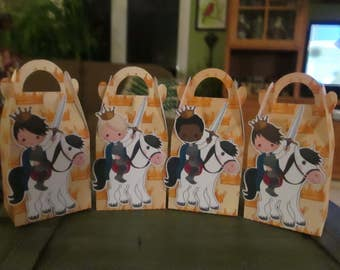 A Prince and His Steed Gable Boxes Set of 12 with Free Shipping