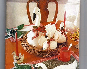 Christmas Craft Geese / Original Butterick Uncut Sewing Pattern 5803