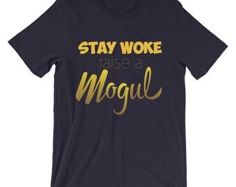Stay Woke T-Shirt- Gold
