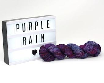 Purple Rain - Hand Dyed Merino/Silk Yarn
