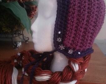 Crochet Frozen  Anna Beanie