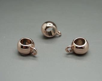 SET of 3 rose gold nickel free rose gold (U02) bail