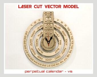 Calendrier perpetuel calendrier sculpt mod le vectoriel - Calendrier lunaire coupe bois ...