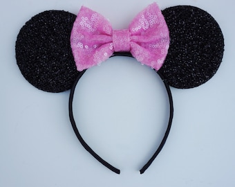 Minnie mouse ears pink bow  for babies and kids