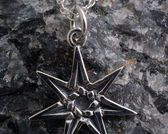 Sterling silver elfen fairy elf charm necklace handmade 925