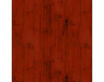 Fabric by the Yard - HOMESTEAD - Wood Texture Red