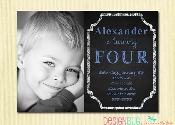 Birthday baby boy invitation 1 2 3 4 5 year old 1st stopboris Gallery
