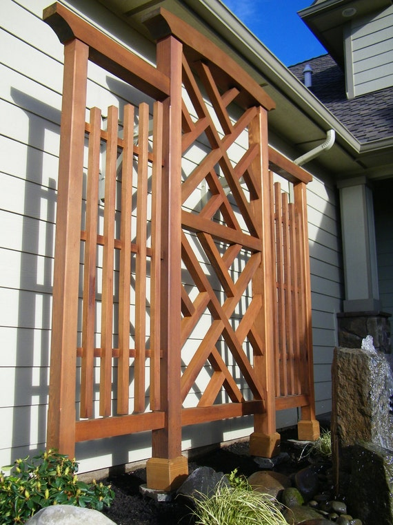 Wall Trellis Chippendale Style Clear Western Red Cedar