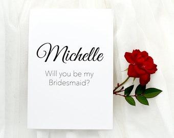 Bridesmaid Card, Bridesmaid proposal, Be my bridesmaid, Bridal party card, Will you be my bridesmaid, Personalised card, custom card, bride