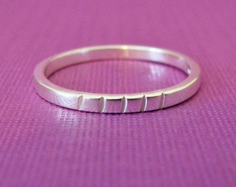 custom tally marks ring in sterling silver - choose the number of tally marks to represent a special anniversary, number of children