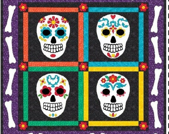 Day of the Dead Sugar Skull quilt pattern
