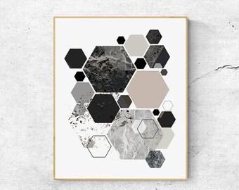 Geometric wall art print, Abstract art print, Scandinavian print, Digital download art, Scandinavian modern art, Abstract wall art Printable