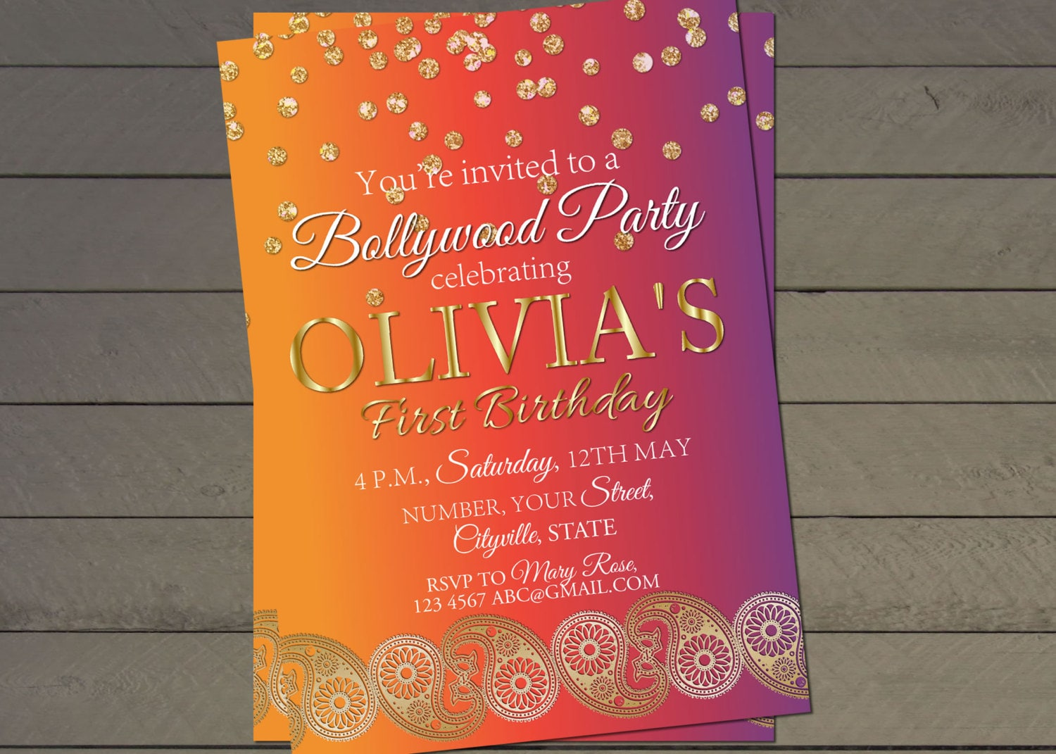 bollywood invitation template - Kubre.euforic.co