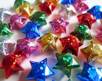 Holographic Glitter Origami Stars - Metallic Wishing Stars/Embellishment/Home Decor/Enclosure