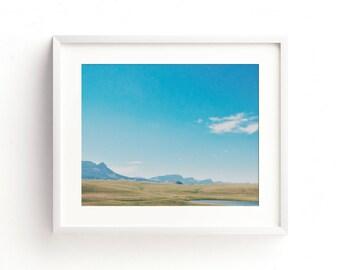 "landscape photography, large colorful landscape art, landscape wall art, large art, large wall art, wall art prints, art - ""Big Sky Country"""