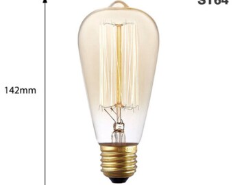 Vintage Edison ampoule E27 220V 40W - Sq Filament