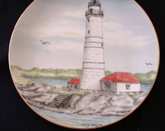 Boston Harbor Lighthouse by Lefton, limited edition, new