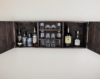 liquor shelf etsy. Black Bedroom Furniture Sets. Home Design Ideas