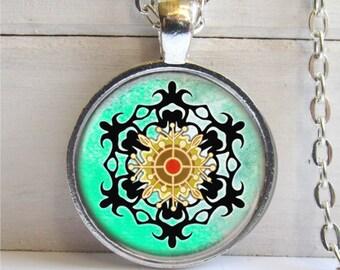 Snowflake Pendant, Winter Jewelry, Snowflake Necklace