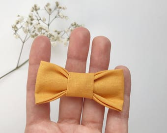 Fabric headband - baby girl and child - mustard yellow bow