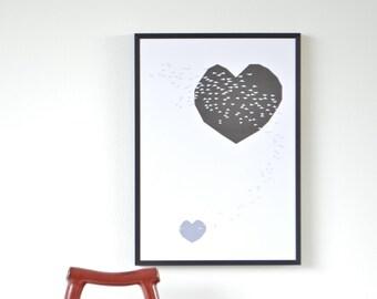 Heart Swoop Art Print