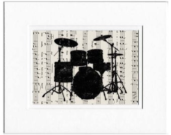 drum set dictionary page print