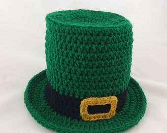 Baby Leprechaun - St Patricks Day Baby - Baby Top Hat - Leprechaun Hat - Green Top Hat - Photography Props - Green Top Hat - Baby Gift