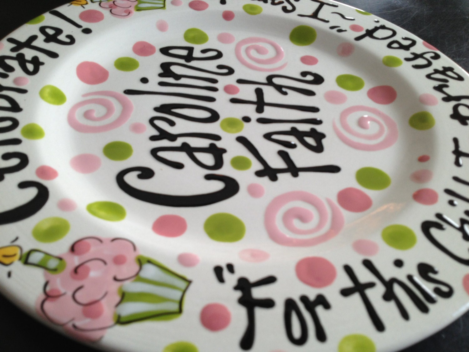 Hand Painted Personalized Birthday Plate & Cool Personalized Ceramic Birthday Plates Photos - Best Image Engine ...