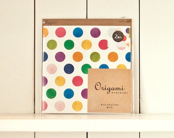 Japanese Origami, Paper folding, Origami folding paper, Origami paper, Craft paper, Scrapbooking origami, Dots paper