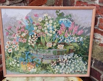 Vintage Tapestry of Flowers