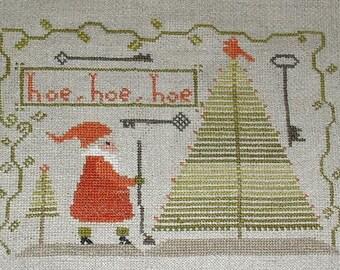 Cross Stitch Pattern - Hoe, Hoe, Hoe