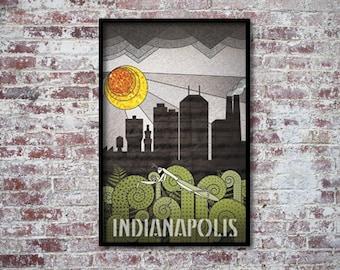 Indianapolis Art Deco Poster