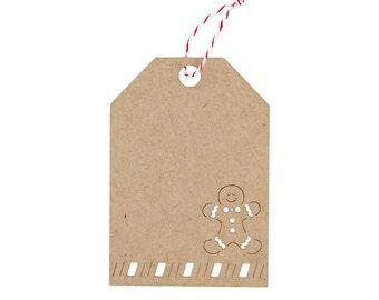 Gingerbread Laser Cut Tag Set