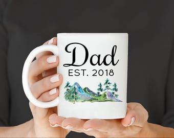 Dad EST Mug, Husband Pregnancy Announcement, Gift for Husband, Dad Mug, Father's Day Mug, Father's Day Gift, Gift for Dad, Fathers day
