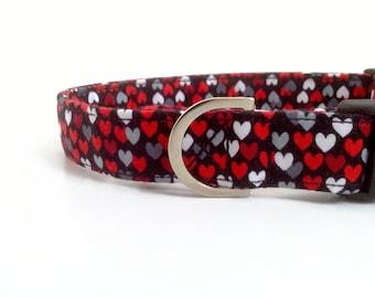 Red Heart Dog Collar   Valentine Dog Collar   Girl Dog Collar   Dog Collar   Pink Dog Collar   Small Dog Collar   Cute Collar   Puppy Collar