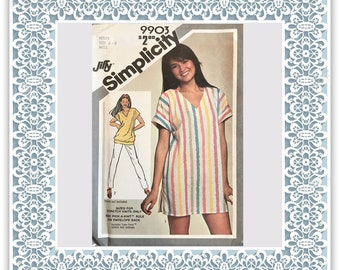 Simplicity 9903 (1981) Misses' Jiffy pullover easy-fitting tunic or top - Vintage Uncut Sewing Pattern