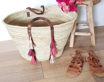 Basket leather tassels