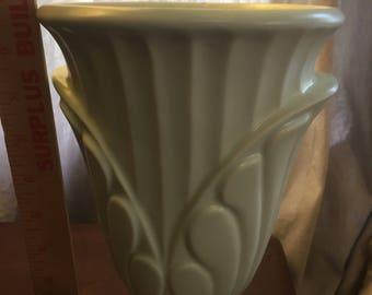 Haeger mint green vase