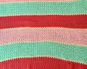 Summer fruits crochet baby blanket