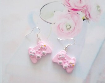 earrings kawaii controller polymer clay