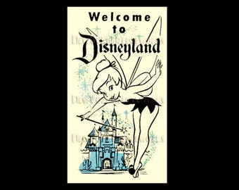 Disney Poster Cross Stitch, Tinkerbell, Disneyland Poster, Cross Stitch, Disney, Needlepoint, Disney Poster by NewYorkNeedleworks on Etsy