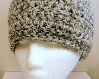 Gray Beanie Gray Crocheted Beanie Chunky Yarn Gray Beanie Grey Beanie Grey Crocheted Beanie Chunky Yarn Grey Beanie