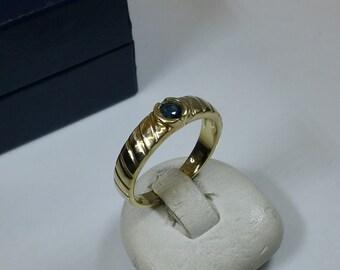 Gold Ring sapphire ring gold 333 vintage old GR200