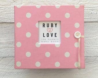 BABY BOOK   Baby Pink Polka Dot Album