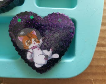 Astro Kitty Resin Charms