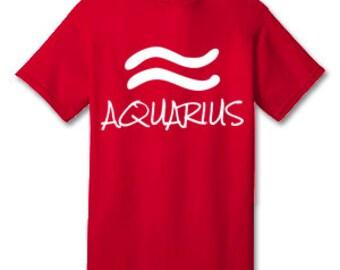 AQUARIUS 100% Cotton Tee Shirt #H001